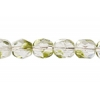Fire/polished 6mm Olivine Bi-tone Strung